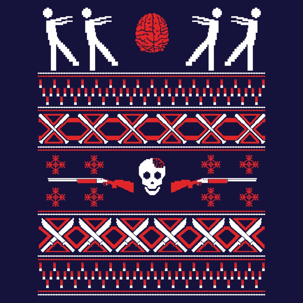 Zombie Christmas Sweater T Shirt