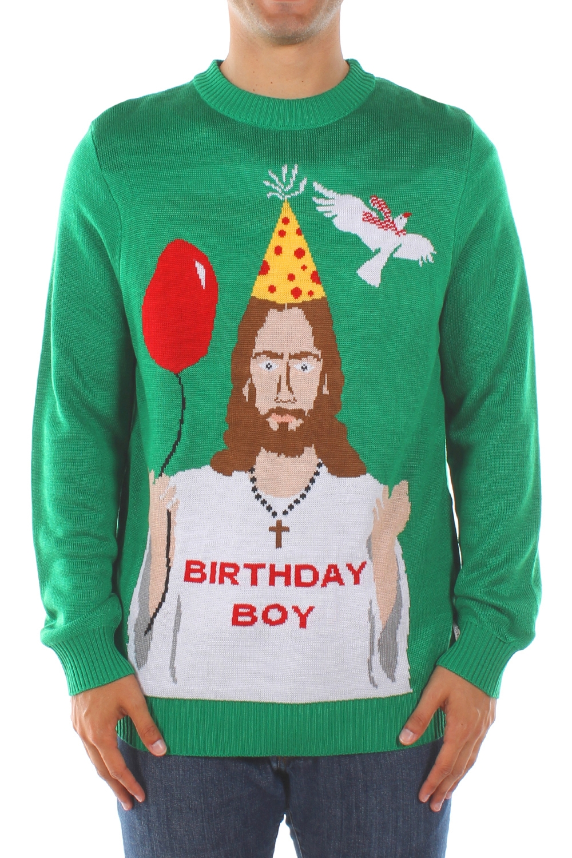 Happy Birthday Jesus Christmas Sweater - PopCult Wear
