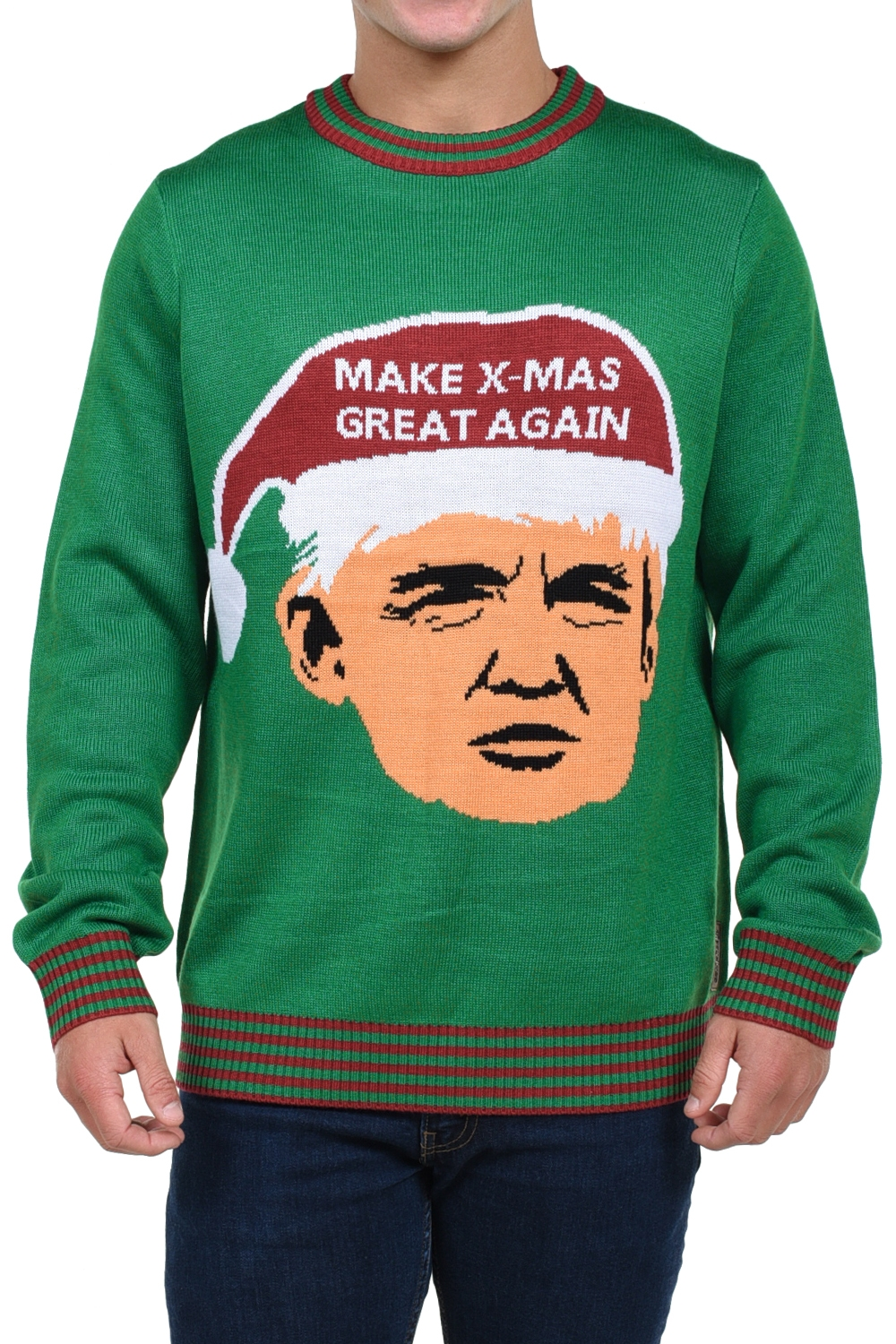 Make X-Mas Great Again Trump Christmas Sweater - PopCult Wear