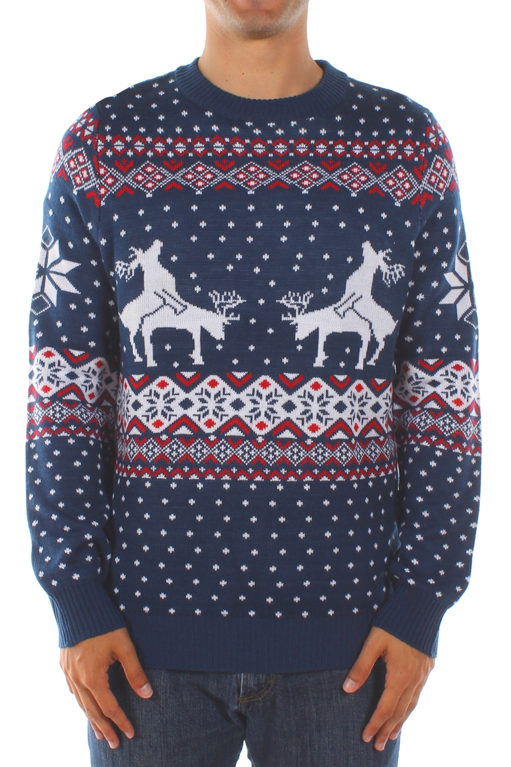 Women Knited Holiday Pullover Christmas Cute Reindeer Sweater. from $ 19 99 Prime. out of 5 stars Uideazone. Unisex Ugly Christmas Sweaters Long Sleeve Round Neck Knitted Sweater Pullover. from $ 15 98 Prime. out of 5 stars Ensasa. Womens Autumn Winter Snowflake Graphic Printed Stretchy Leggings Pants.