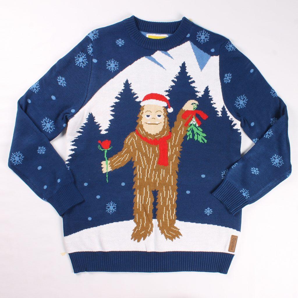 Romantic Sasquatch Christmas Sweater