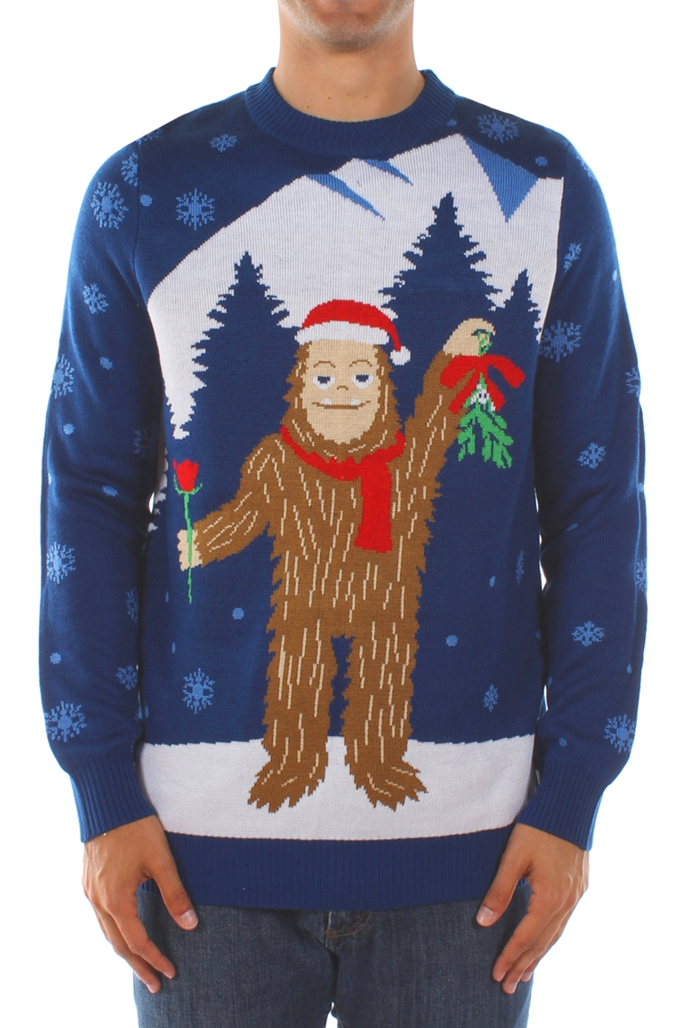 c3ba69f88 Romantic Sasquatch Christmas Sweater - PopCult Wear