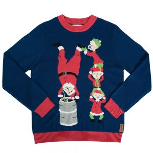 Santas Little Helpers Keg Stand Christmas Sweater
