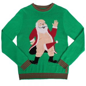 South Pole Naughty Santa Christmas Sweater