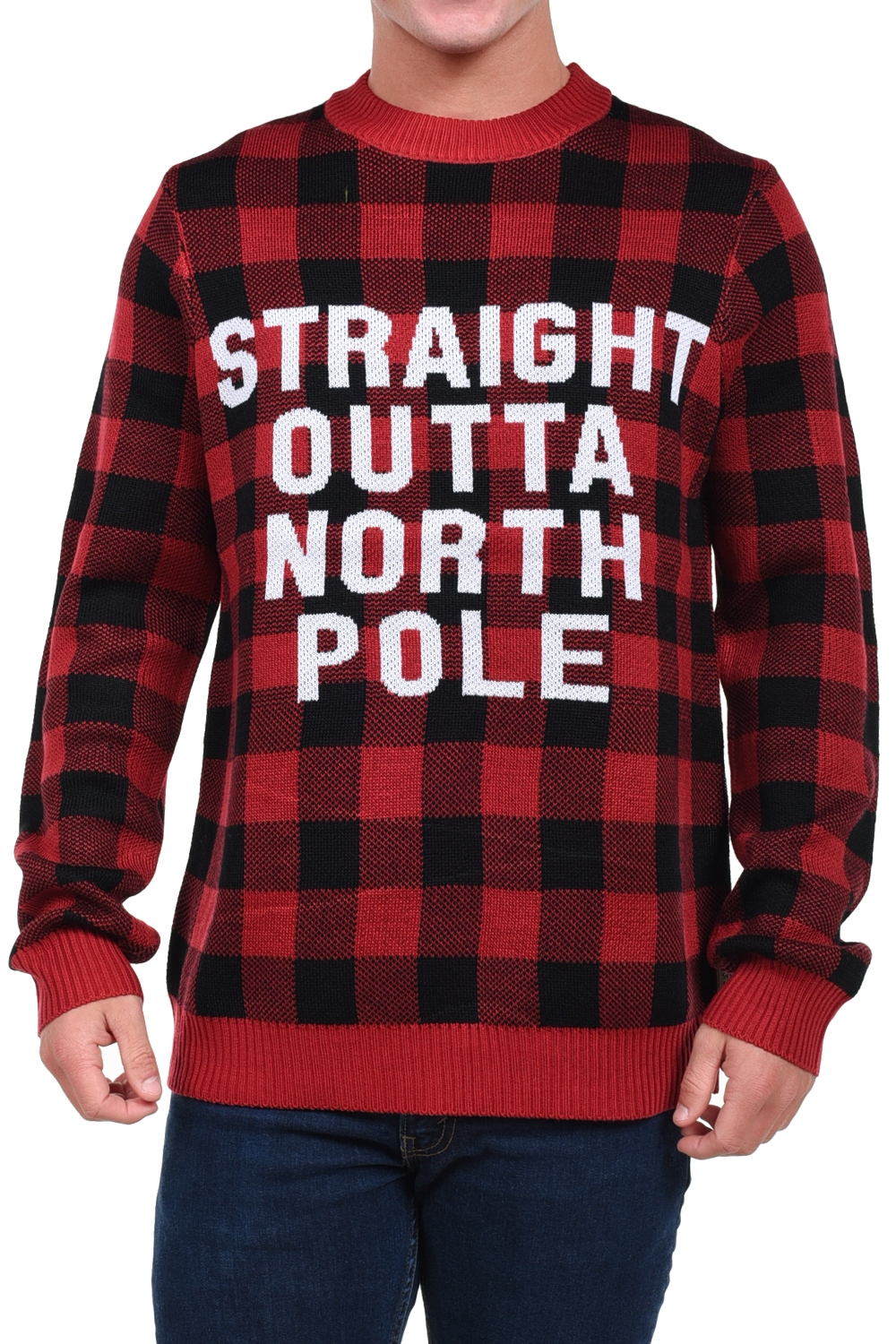 Straight Outta North Pole Christmas Sweater - PopCult Wear