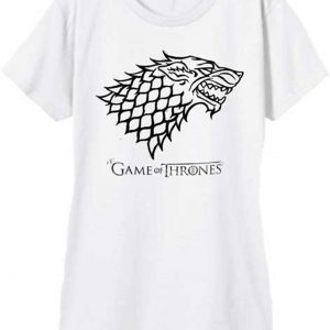 Game of Thrones House Stark Wolf Sigil Outline T Shirt