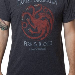 Game of Thrones House Targaryen Heather T Shirt