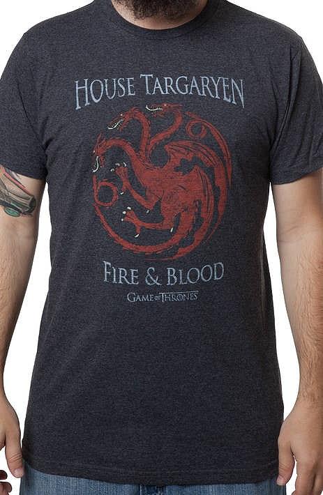 Game of Thrones House Targaryen Heather T Shirt