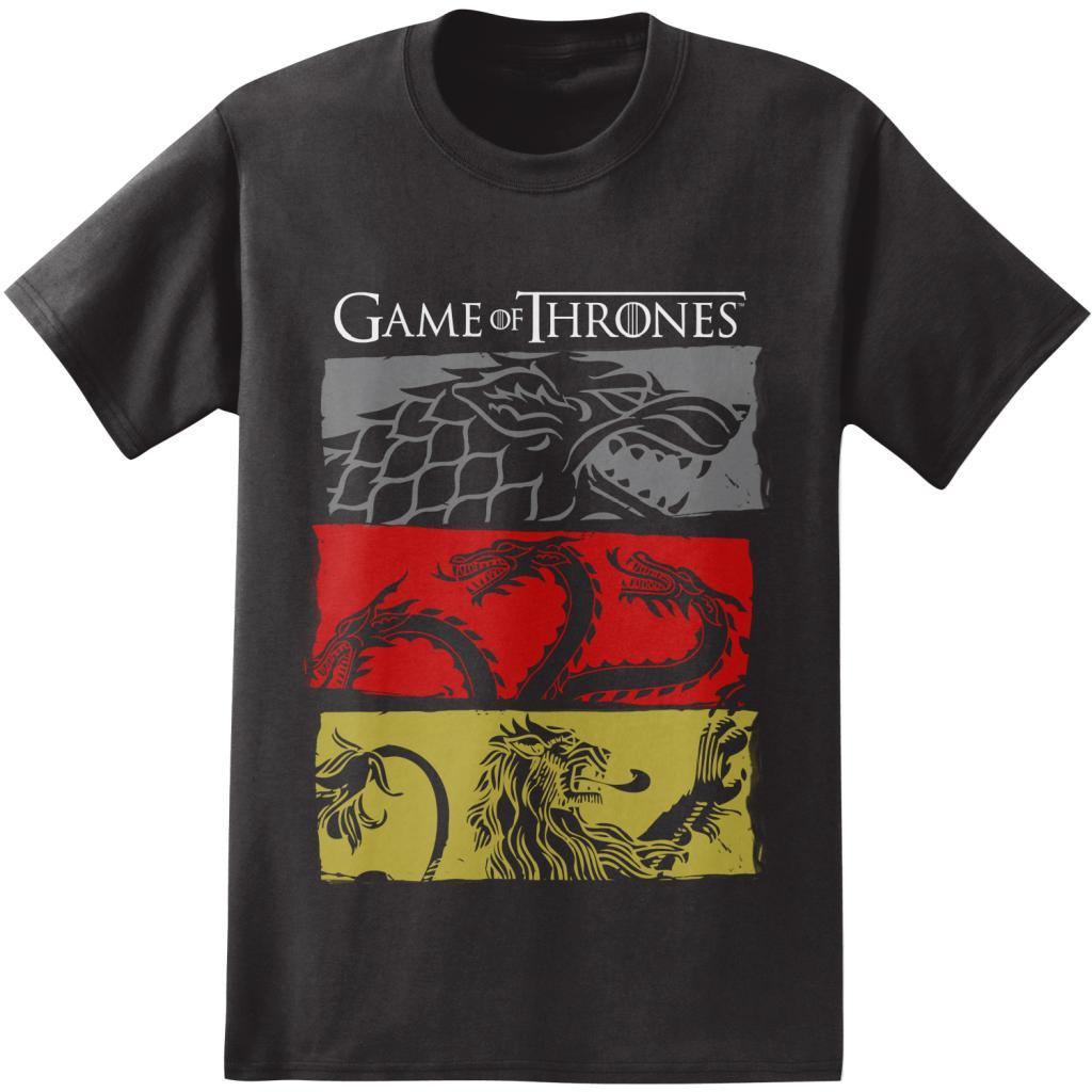Game of Thrones Stark Targaryen Lannister House Sigils T Shirt