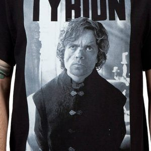 Game of Thrones Tyrion Lannister Black and White T Shirt