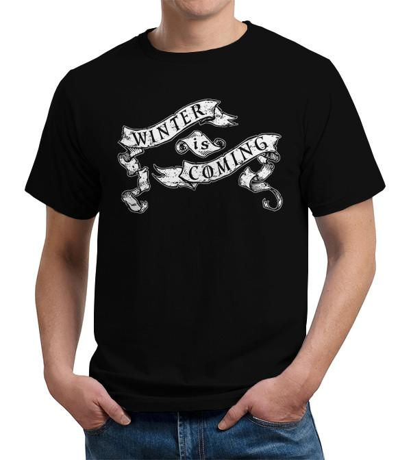 Game of Thrones Winter Is Coming Banner T Shirt Image2