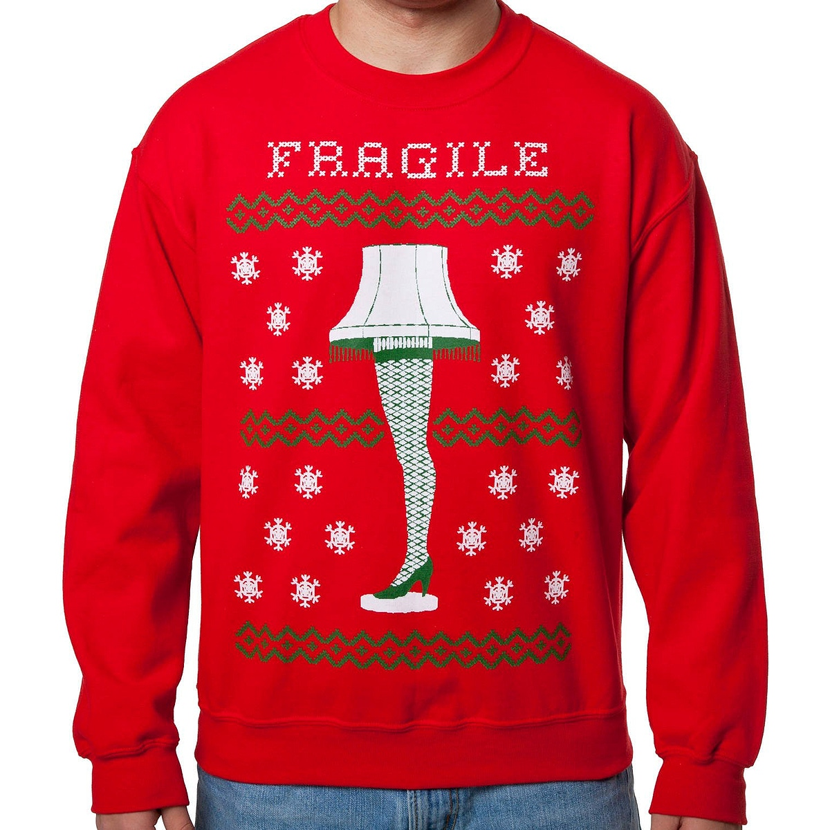 Christmas Story Fragile Lamp Faux Ugly Sweater
