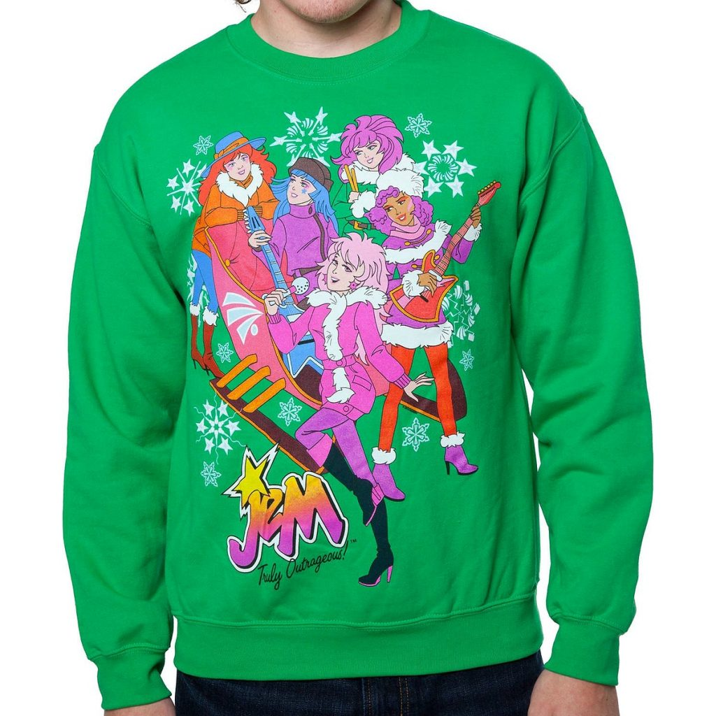 Jem and the Holograms Sleigh Faux Ugly Christmas Sweater