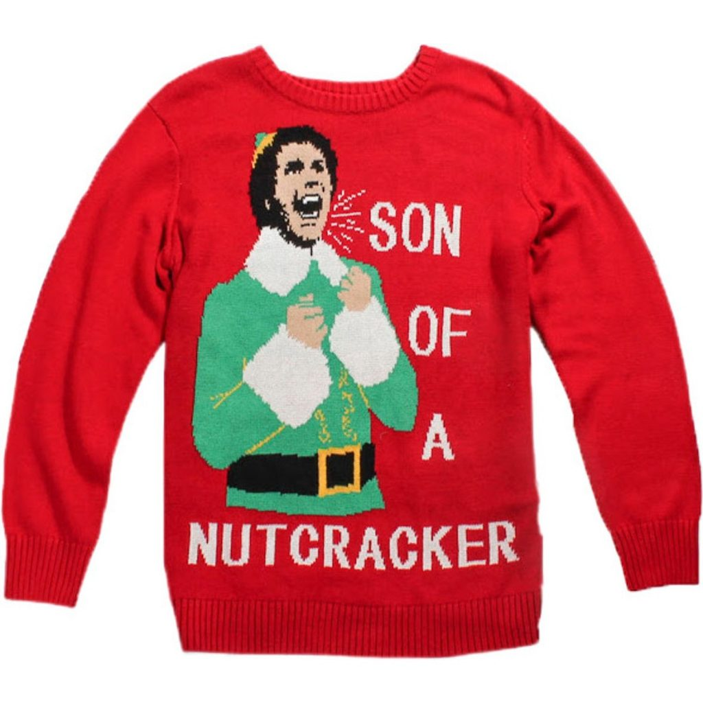 Son of a Nutcracker Elf Ugly Christmas Sweater