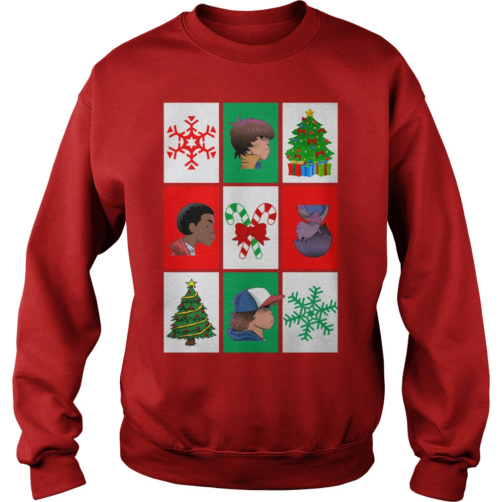 Stranger Things Gorillaz Style Christmas Sweatshirt