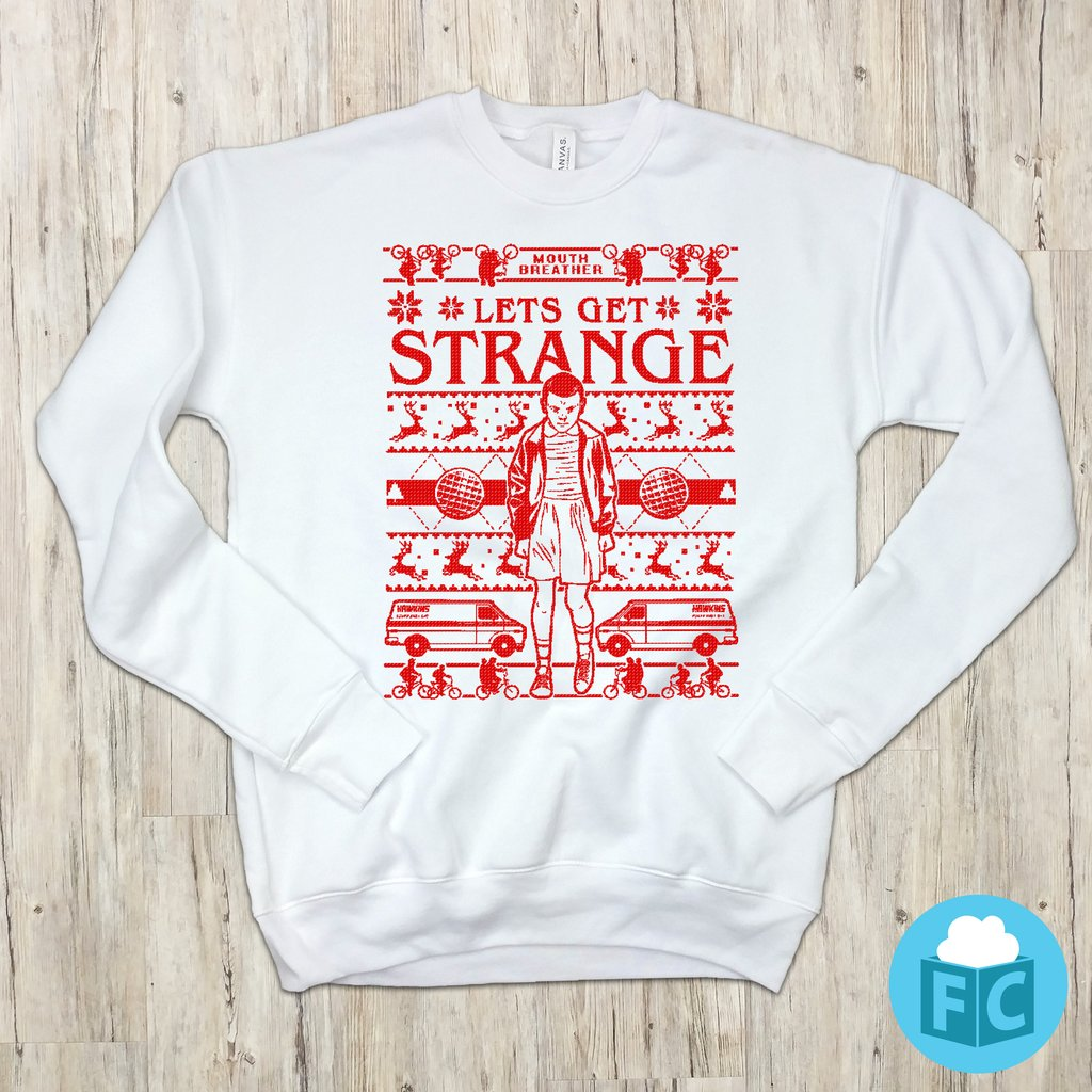 Stranger Things Lets Get Strange El Christmas Sweatshirt