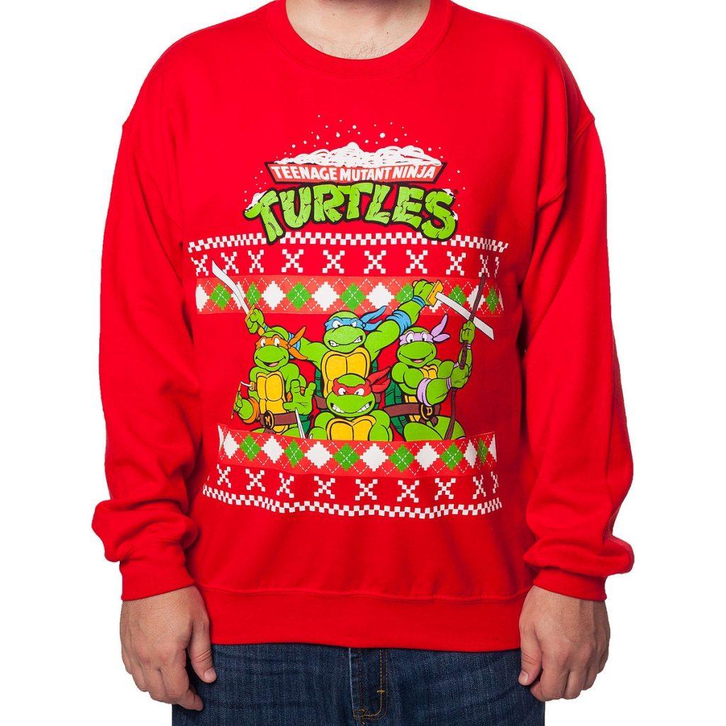 Teenage Mutant Ninja Turtles with Weapons Christmas Sweatshirt