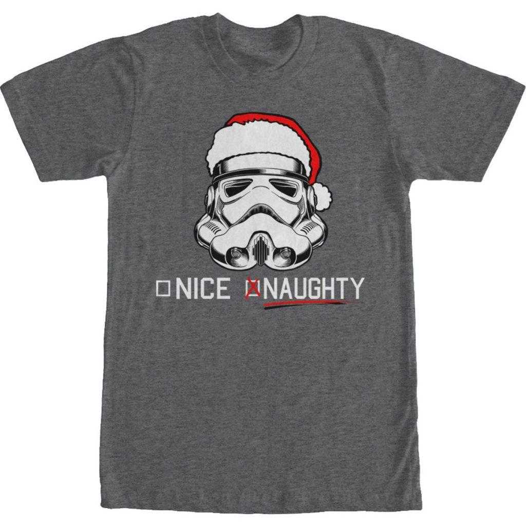 Naughty Stormtrooper Christmas Star Wars T Shirt