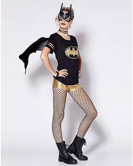 Batgirl Caped T Shirt Costume DC Comics Far2