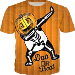 Dab Or Treat Halloween Skeleton T Shirt