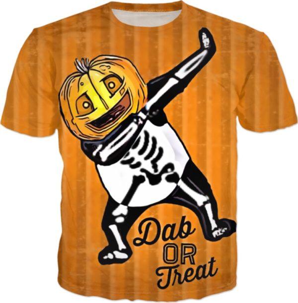 Dab Or Treat Halloween Skeleton T Shirt