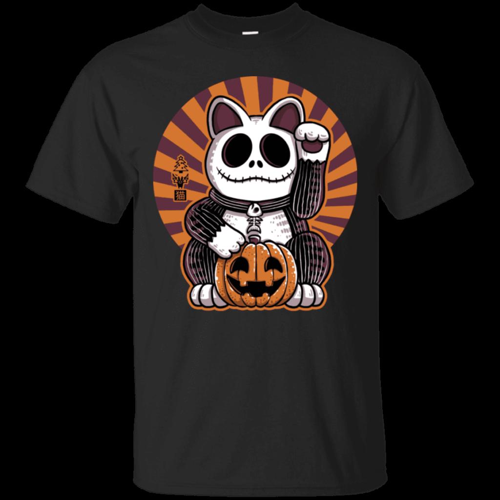 Halloween Maneki Neko Lucky Cat T Shirt