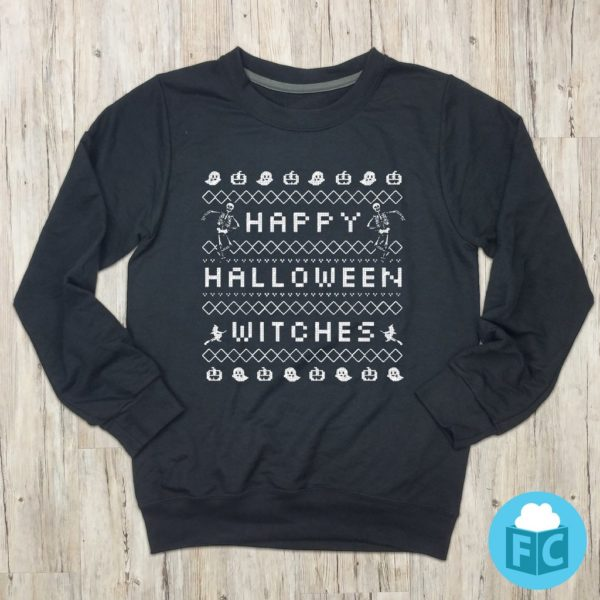 Happy Halloween Witches Sweater Style Sweatshirt