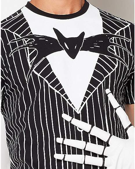 Jack Skellington Bow Tie T Shirt The Nightmare Before Christmas Zoom
