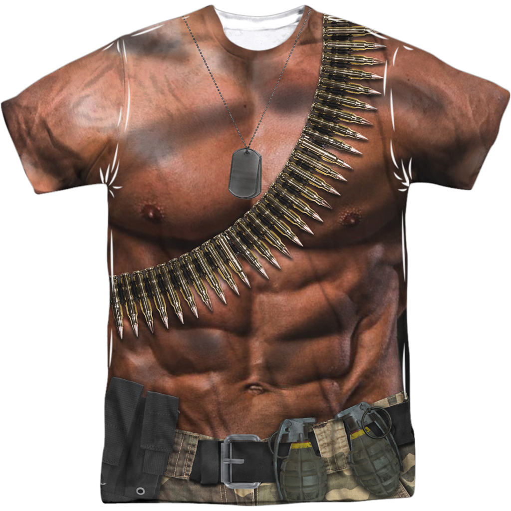 John Rambo Costume Sublimated T Shirt