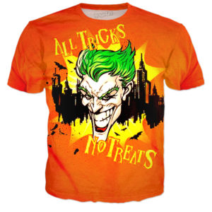 Joker All Tricks No Treats Halloween Batman T Shirt