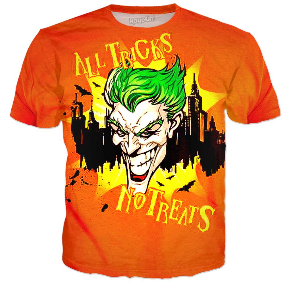 Joker All Tricks No Treats Halloween Batman T Shirt