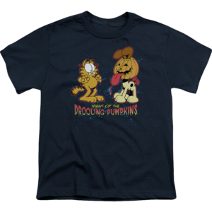 Night Of The Drooling Pumpkins Youth Garfield T Shirt