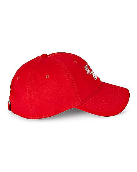 Pizza Planet Red Dad Hat Toy Story Side