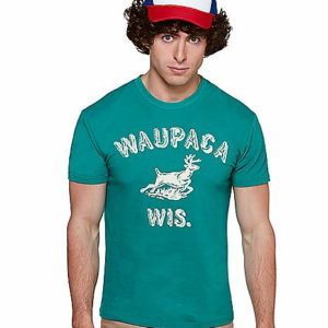 Stranger Things Dustin Waupaca Wisconsin Costume T Shirt