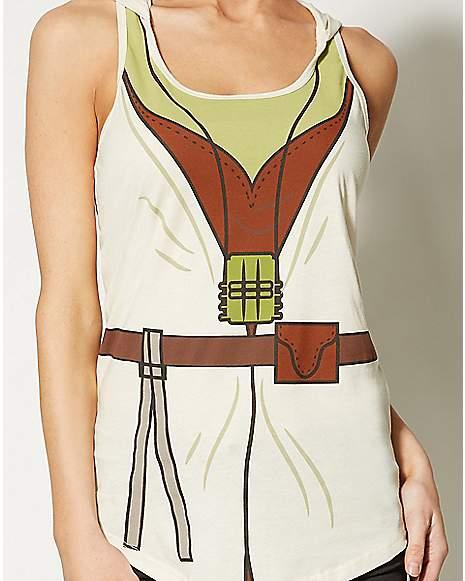 Yoda Hooded Tank Top Costume Star Wars Zoom