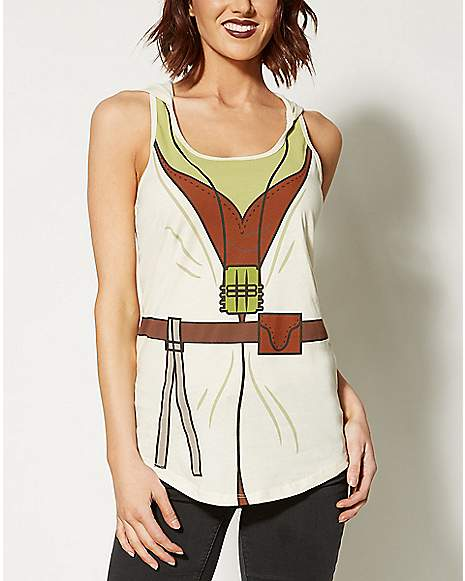 Yoda Hooded Tank Top Costume Star Wars
