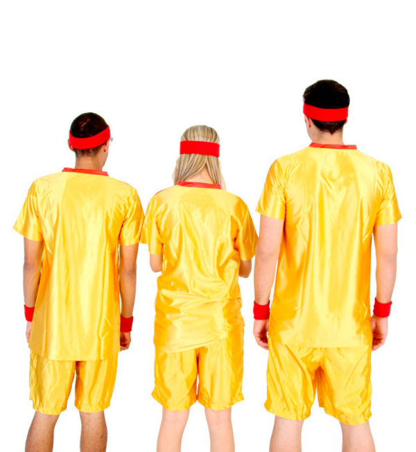 Average Joes Dodgeball Jersey and Shorts Costume Group Rear