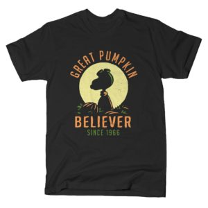 Great Pumpkin Believer Halloween Peanuts T Shirt Variation 2