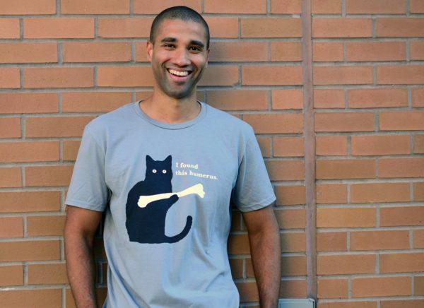 I Found This Humerus Cat Bone T Shirt Image 2